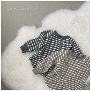 Snow Flower Stripe Top