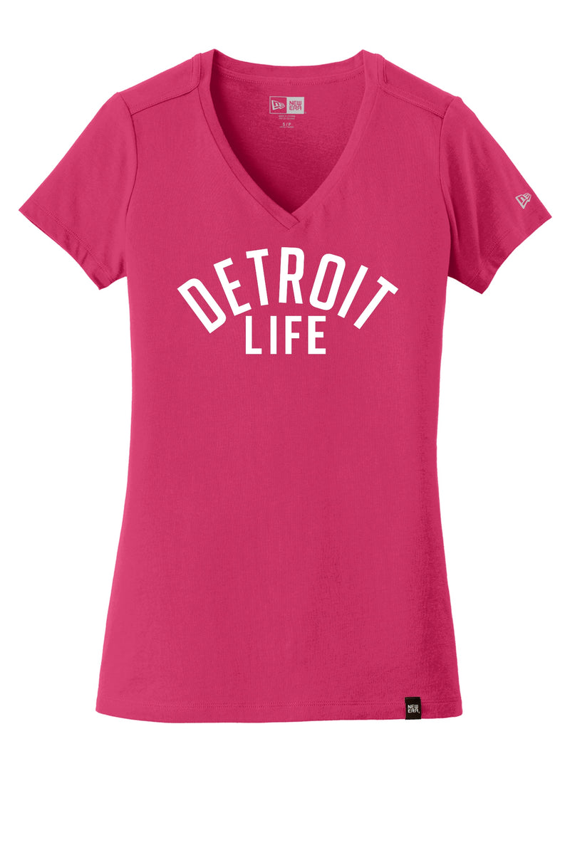 WOMENS DETROIT LIFE V NECK T SHIRT