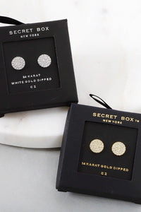 Secret Box Stud Earrings