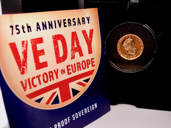 VE Day Limited Edition gold sovereign coin