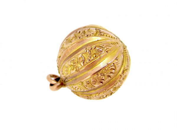 vintage fluted ball charm