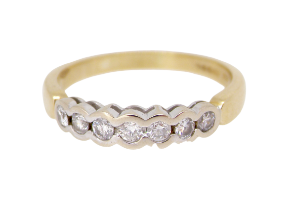 An 18 carat gold diamond eternity ring-NOW ON SALE
