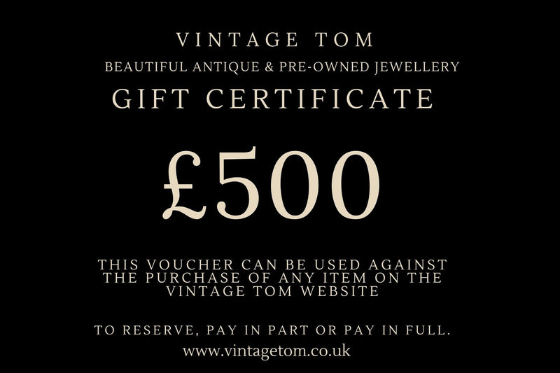 Vintage Tom Antique Jewellery Gift Card