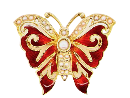 A 9 carat gold butterfly brooch