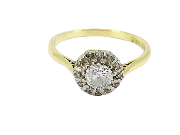 An 18 carat gold diamond cluster ring-HALF PRICE!!