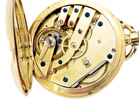 An 18 carat gold lady's fob pocket watch