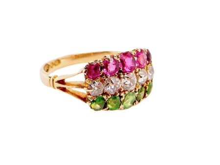 A Victorian multi gemstone dress ring