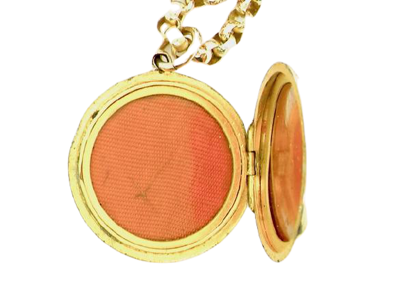 A Victorian rose gold ruby and pearl locket
