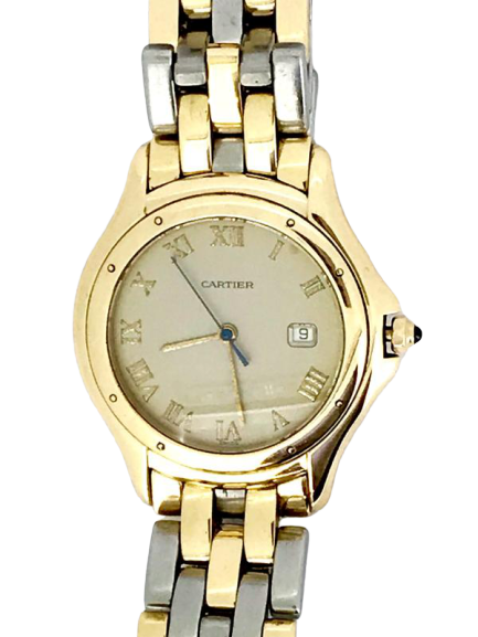A bi metal Cartier Cougar wrist watch