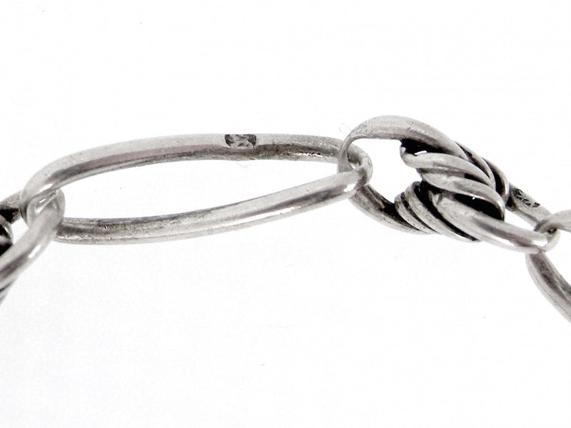 A VINTAGE STERLING SILVER WATCH CHAIN