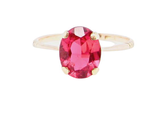 A red spinel dress ring