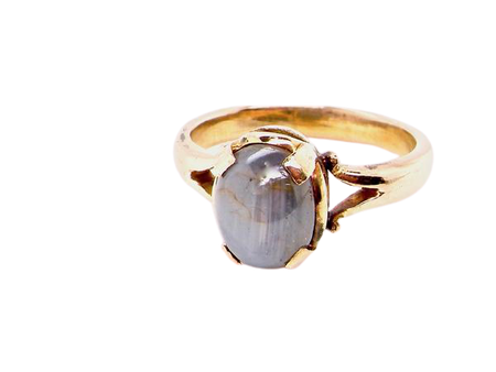 A solitaire ring containing a star sapphire