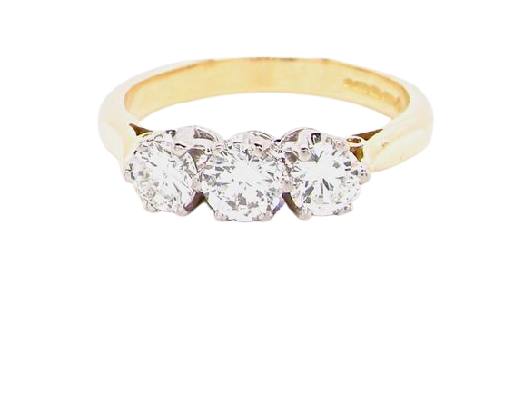 A three stone diamond ring 0.65 carats *RESERVED*