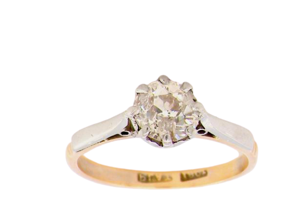 A 18ct gold vintage 0.75ct solitaire diamond ring