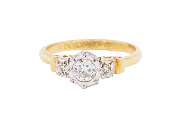 A vintage solitaire diamond ring