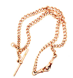 A graduated 9 carat gold watch Albert chain