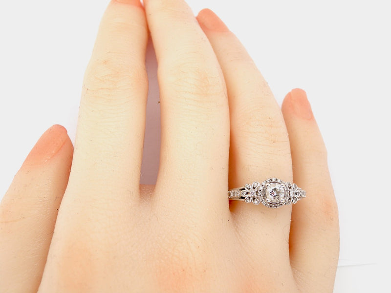 A fancy diamond solitaire ring