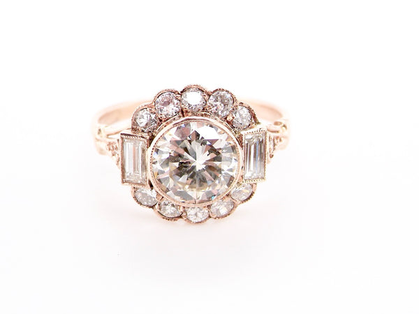 A fine 1.5ct diamond cluster ring *RESERVED*