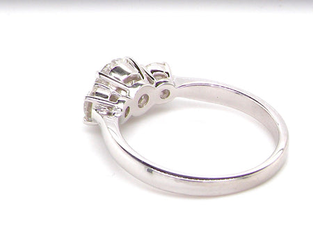 An exceptional three stone diamond trilogy ring 1.35 carats