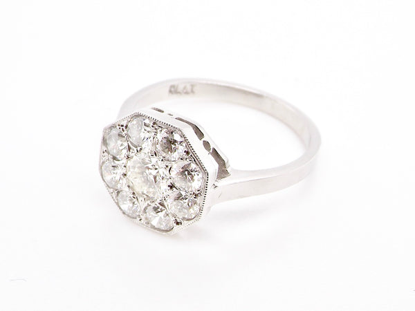 An Art Deco diamond cluster ring