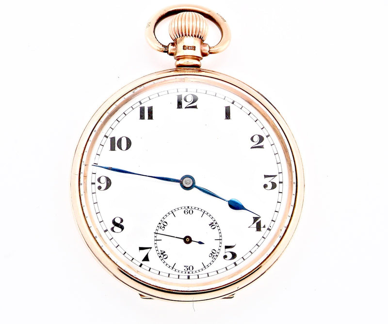 A 9 carat gold open faced pocket watch