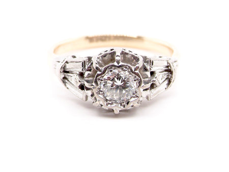 A vintage diamond solitaire ring