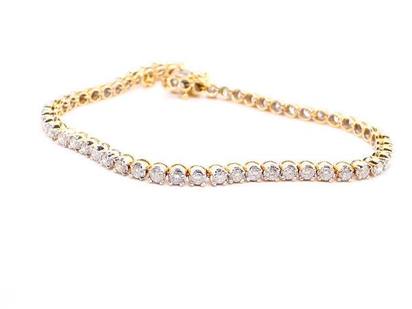 A diamond tennis bracelet