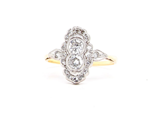 An Edwardian diamond cluster ring