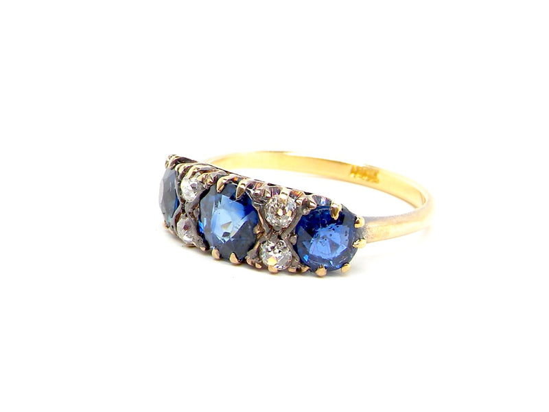 A vintage sapphire and diamond ring *RESERVED*