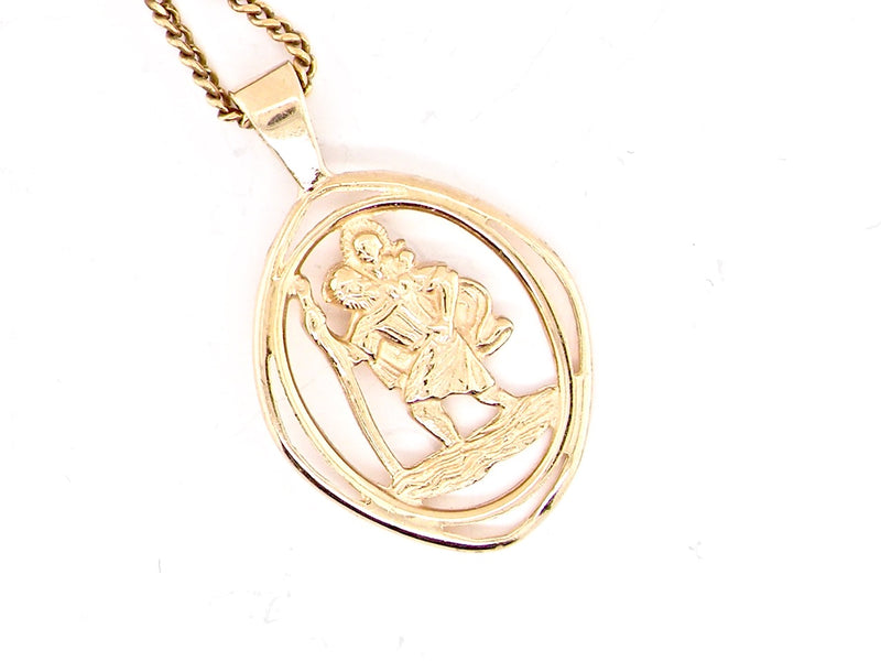 A 9 carat gold St Christopher pendant *RESERVED*
