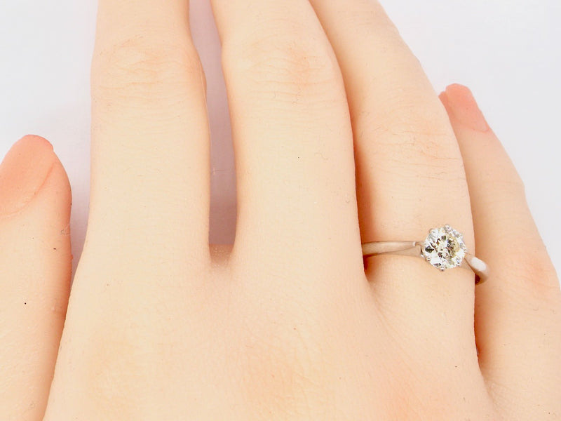A solitaire 0.65ct diamond ring