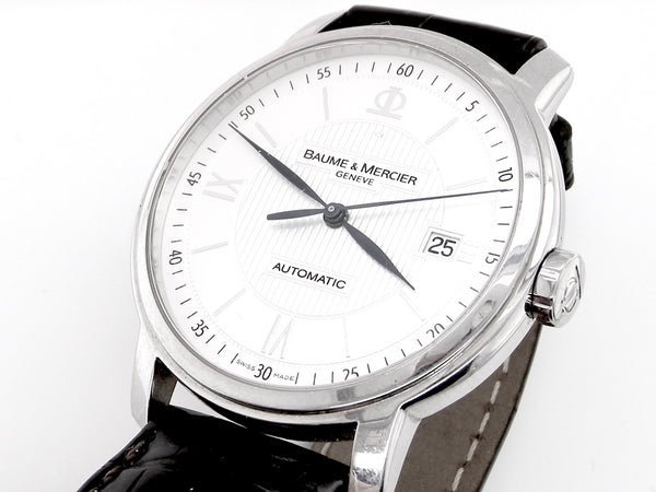 A man's Baume & Mercier automatic wrist watch