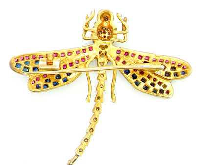 A truly beautiful Victorian dragonfly brooch