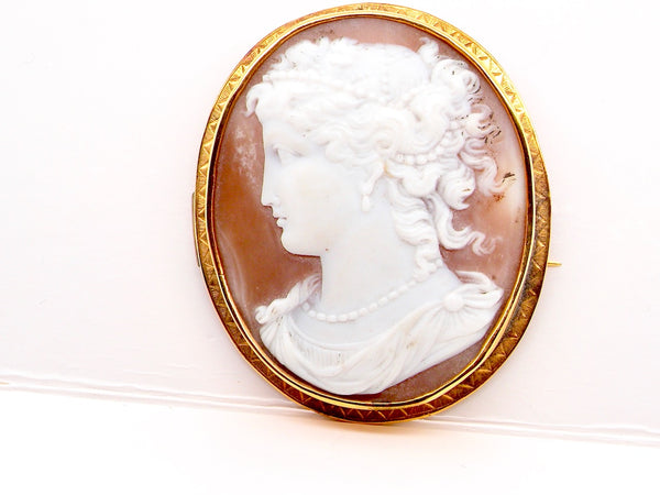 A large Victorian Cameo brooch