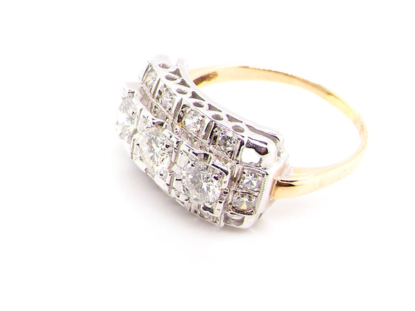A fine continental diamond cocktail ring
