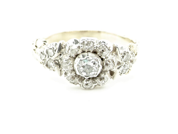 A Victorian diamond cluster ring