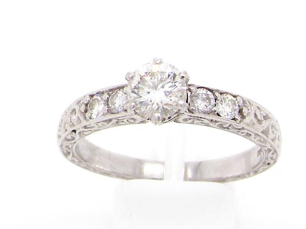 A platinum solitaire diamond ring-10% reduction!