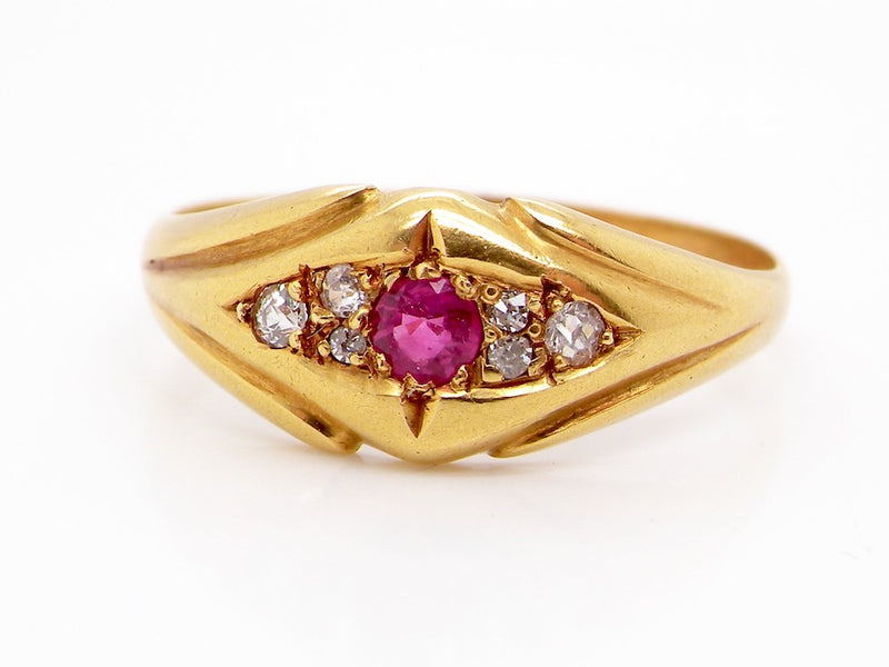 An early 20th century ruby and diamond ring