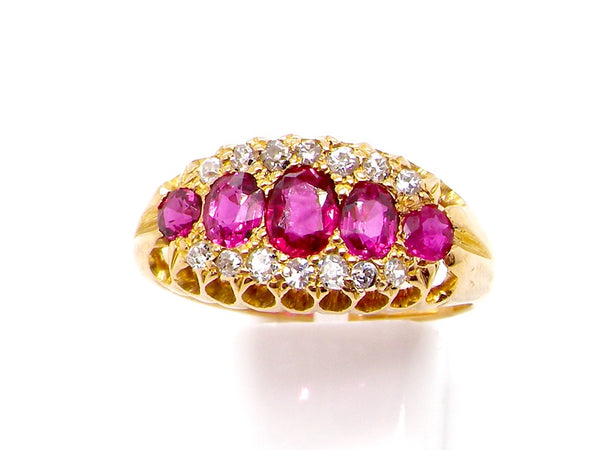 A fine Edwardian ruby and diamond ring