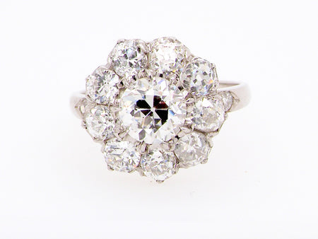 A fabulous diamond cluster gem ring