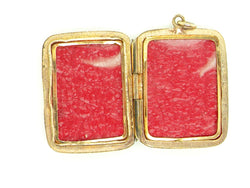 A vintage rectangular locket