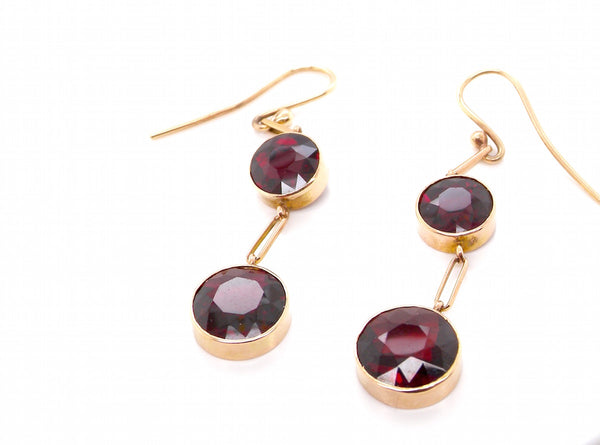 A pair of vintage garnet drop earrings *RESERVED*