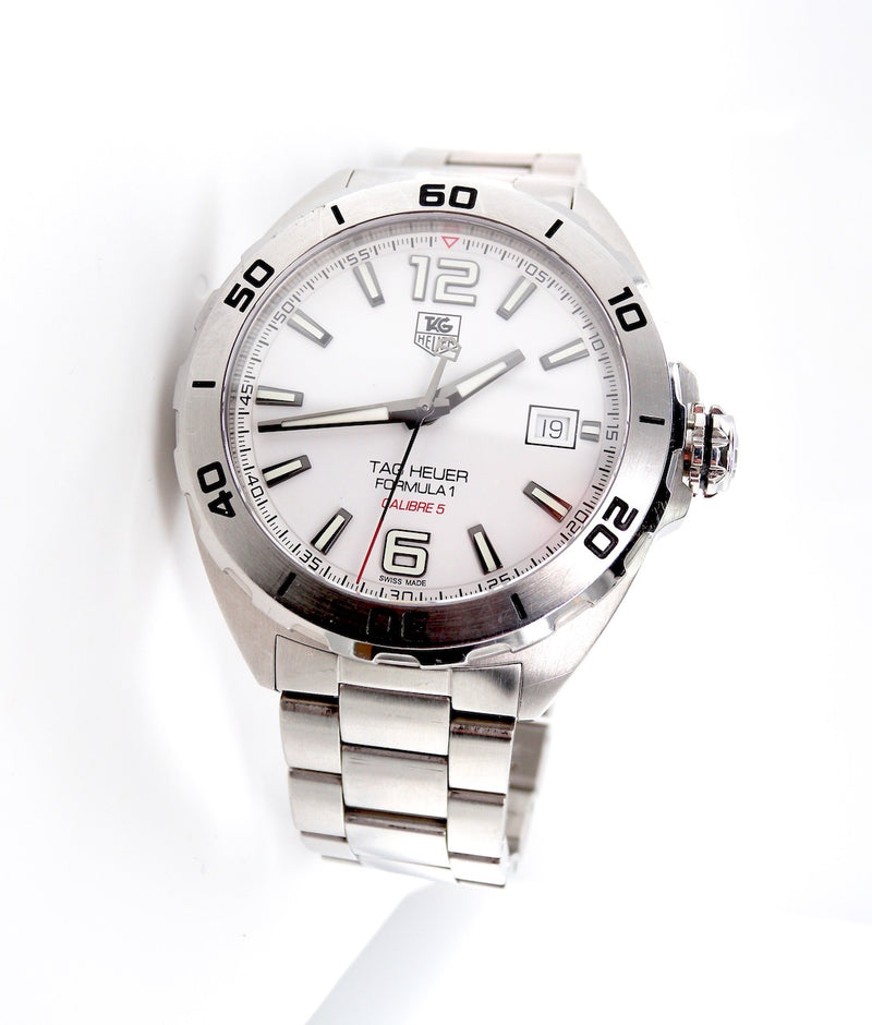 A man's Formula One Tag Heuer wrist watch