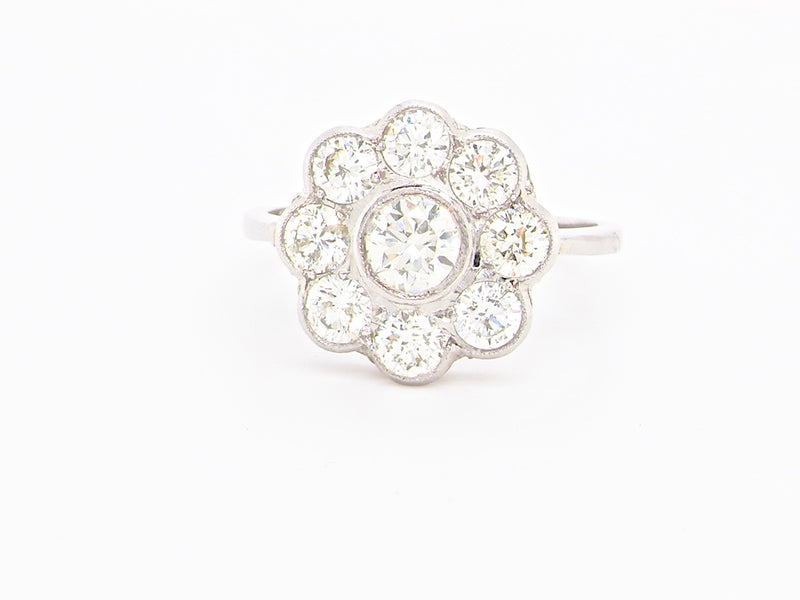 A fine diamond cluster ring