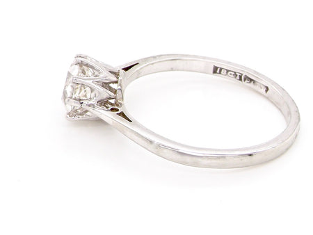 A vintage one carat solitaire diamond ring
