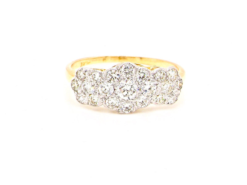 An Edwardian diamond cluster ring *RESERVED*