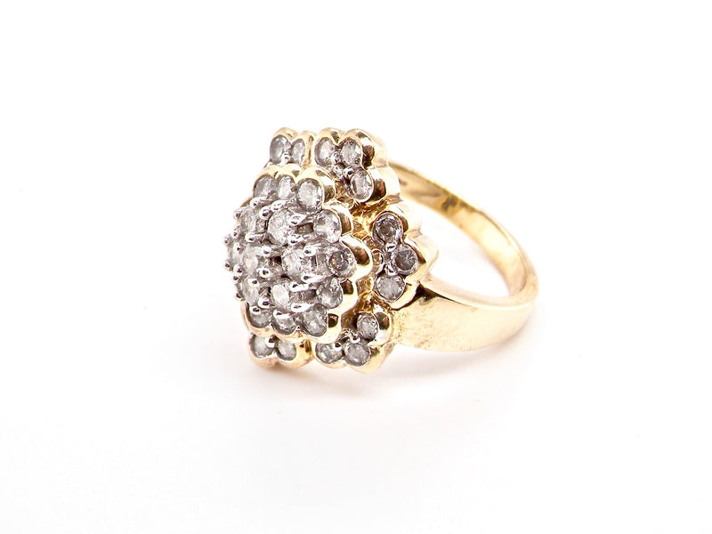 A diamond set cocktail ring