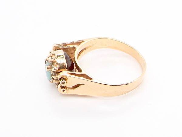 An unusual fold over style dress ring