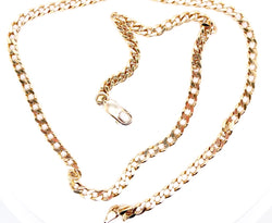 A 9 carat gold filed link neck chain