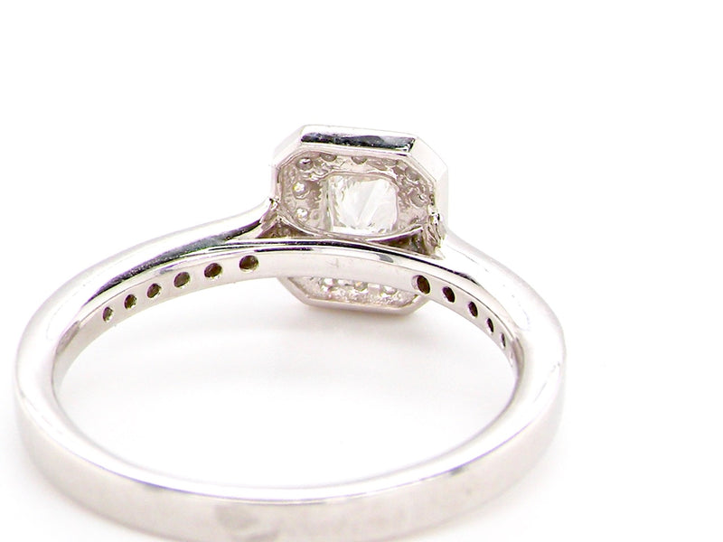 A half carat solitaire diamond ring